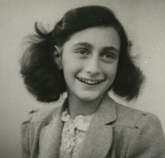Passport picture of Anne Frank